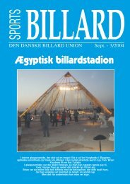 Ægyptisk billardstadion - Den Danske Billard Union