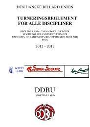 Turneringsreglement - Den Danske Billard Union