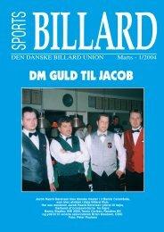 DM GULD TIL JACOB - Den Danske Billard Union