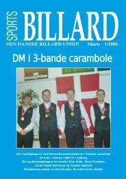 DM i 3-bande carambole - Den Danske Billard Union