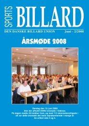 ÅRSMØDE 2008 - Den Danske Billard Union