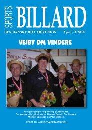 DEN DANSKE BILLARD UNION April - 1/2010