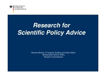 03 Research for Scientific Policy Advice, Heinrich Nöthe - deufrako
