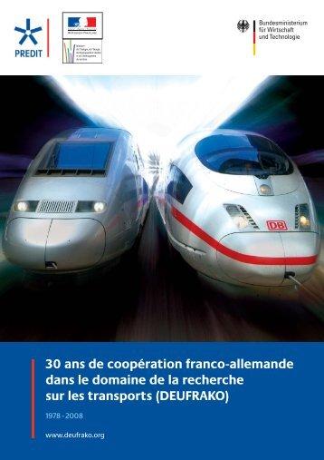30 ans de coopération franco-allemande dans le ... - deufrako