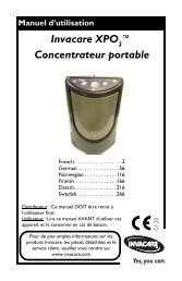 Invacare XPO ™ Concentrateur portable
