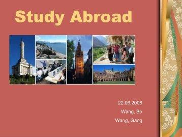 Presentation Study Abroad