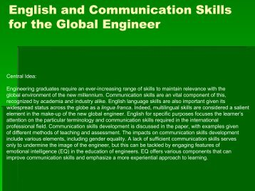 english and communication skills for the Skills job interview letter writing listening skills media telephone techniques english & english and communications communication skills is an aim which.