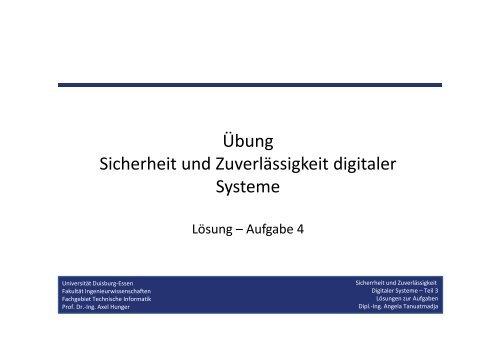 Technische Informatik - Universität Duisburg-Essen