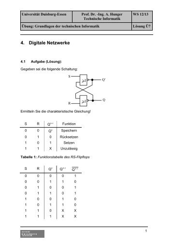 1 Darstellung von Informationen/Daten im Rechner - Technische ...