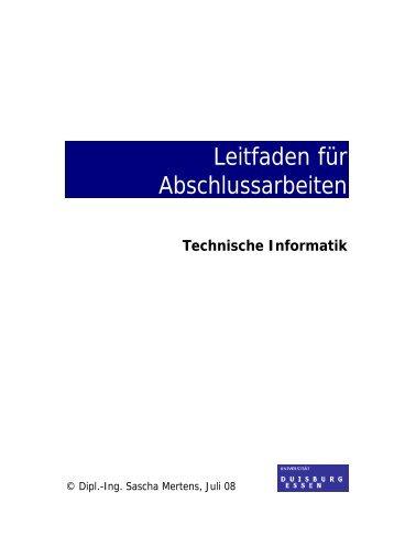 Leitfaden für Abschlussarbeiten - Technische Informatik