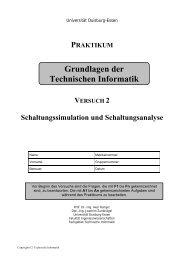 Versuch 2: Schaltungsimulation- und Analyse - Technische Informatik