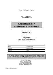 Flipflops und Zählerentwurf - Technische Informatik