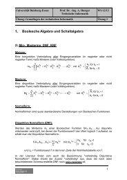 Übung 2 - Minterme und Maxterme (DNF, KNF) - Technische ...