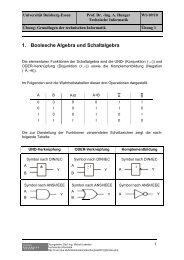 1. Boolesche Algebra und Schaltalgebra - Technische Informatik