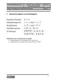 und Distributivgesetz - Technische Informatik
