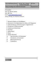 Übung organisatorisch - Technische Informatik