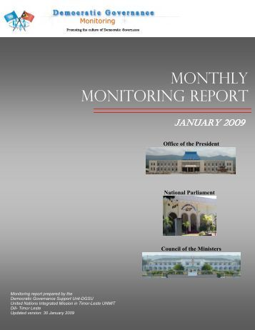 MONTHLY MONITORING REPORT - Unmit