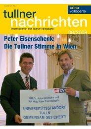 Ausgabe September 2008 - Bürgermeister Peter Eisenschenk ...
