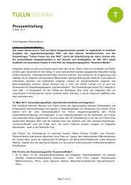 Pressemitteilung - Bürgermeister Peter Eisenschenk