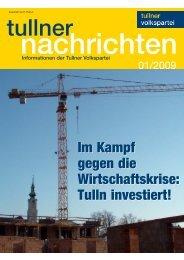 Ausgabe Jänner 2009 - Bürgermeister Peter Eisenschenk ...