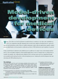 Model-driven development for medical devices - Embedded ...
