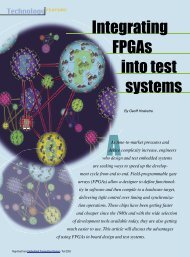 Integrating FPGAs into test systems - Embedded Computing Design