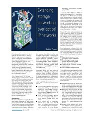 Extending storage networking over optical IP networks - Embedded ...