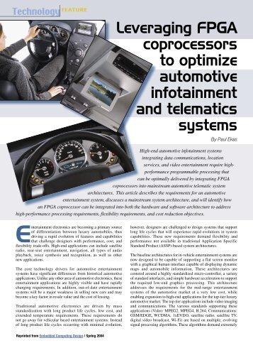 Leveraging FPGA coprocessors to optimize automotive ...