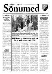 Sõnumed nr 1 - jaanuar 2012 - Tapa vald