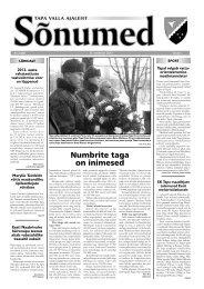 Sõnumed nr 2 - veebruar 2013 - Tapa vald