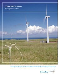 COMMUNITY WIND: - Energy Trust of Oregon