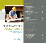 Best practices pocket guide - Energy Trust of Oregon