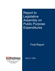 Report to Legislative Assembly on Public Purpose Expenditures