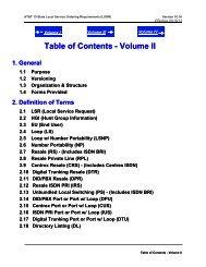 Volume II - AT&T Clec Online