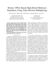 FPGA-Based High-Detail Multicore Simulation Using Time-Division ...