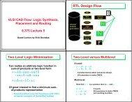RTL Design Flow - Computation Structures Group