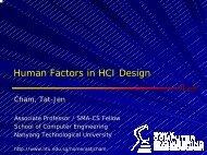 Human Factors in HCI Design