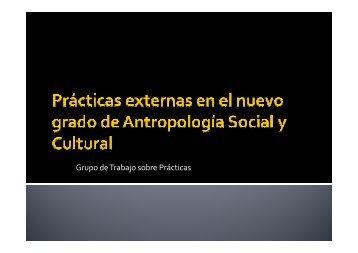 Grupo de Trabajo sobre Prácticas - Redes. Revista hispana para el ...