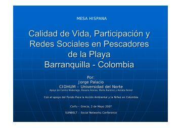 Calidad de Vida, Participación y Redes Sociales en Pescadores de ...