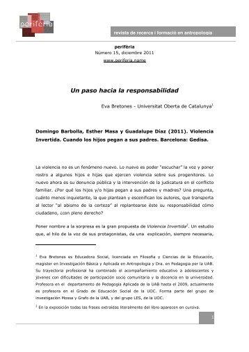 Un paso hacia la responsabilidad - Redes. Revista hispana para el ...