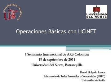Operaciones Básicas con UCINET - Redes. Revista hispana para el ...