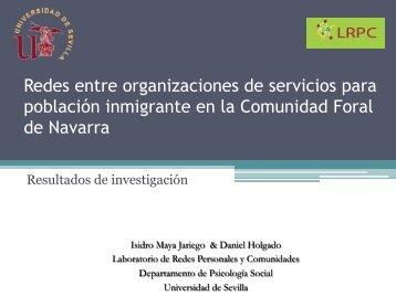 Redes entre organizaciones de servicios para población inmigrante ...