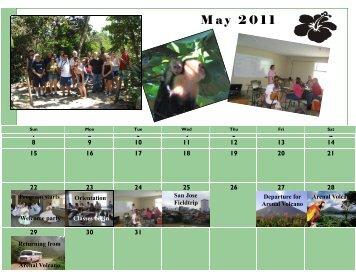 Calendar of Events 2011