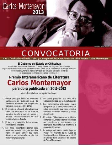 triptico Convocatoria Carlos Montemayor 2013.cdr