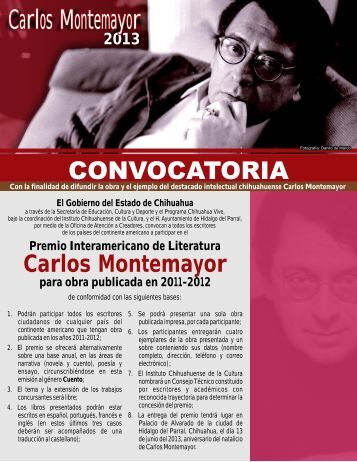 triptico Convocatoria Carlos Montemayor 2013.cdr