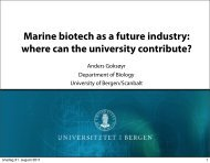 Marine biotech as a future industry