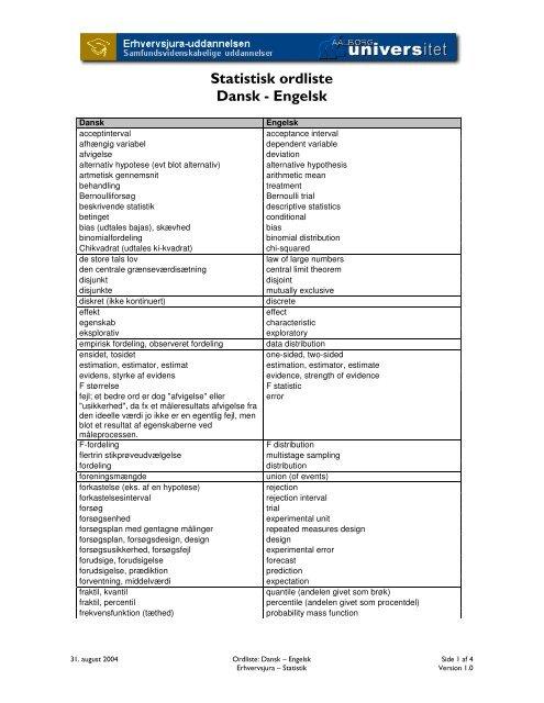 undersøgelse på engelsk