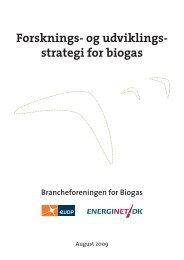 Forsknings- og udviklingsstrategi for biogas - Energistyrelsen