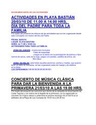 actividades en playa bastián 20/03/10 de 11.00 a 14.00 hrs, día del ...