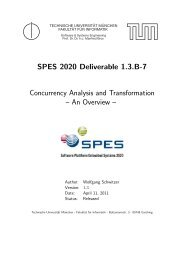 SPES 2020 Deliverable 1.3.B-7 Concurrency Analysis and ...